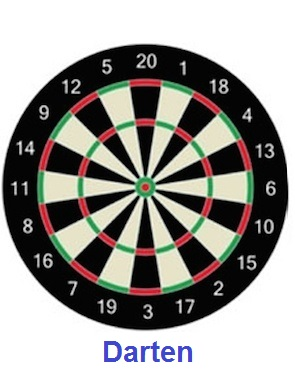 A traditional dartboard l 008 0